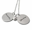 Silver Double Charms Necklace with Names