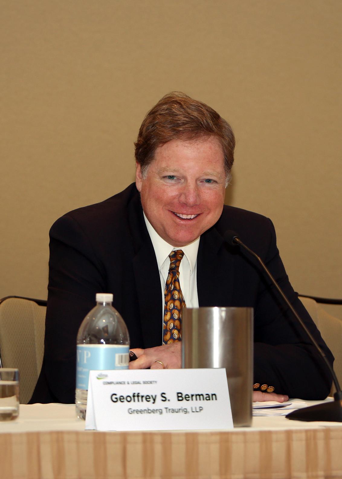 Greenberg Traurig S Geoffrey S Berman Speaks At Sifma Seminar