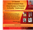 2nd Annual Faith to Conquer Fear: from Dreams to Purpose to Reality Conference