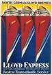 Lois Gaigg, Lloyd Express - Fastest Transatlantic Service, American, ca. 1932, Lithograph, 24 x 35 inches.
