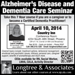 Alzheimer's Disease and Dementia Care Seminar in Phoenix, Arizona...