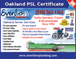 Oakland Sewer Repair Contractors at NoDigTrenchlesSewer.com Announce Summer Discount on Service for $25 off in Oakland CA