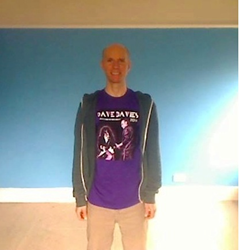Dave Davies' son Christian Davies with Garment Printing's t shirt