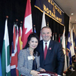 Kyong Wilson with Rotary International President Ron Burton