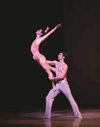 "Principal Dancers Julie Diana and Zachary Hench in Christopher Wheeldon's ""After the Rain"" Photo: Alexander Iziliaev"