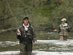 Women Fly-fishing Trout Steelhead Salmon