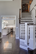 This staircase was completely remodeled with updated newel posts and balusters to compliment the new kitchen design.