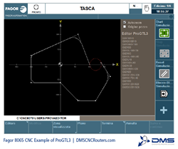 Fagor 8065 CNC Controller ProGTL3 Software Example DMS CNC Routers
