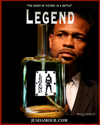 The scent inspired by Roy Jones, Jr.