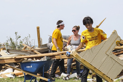 Joava Good coordinated the relief effort of the Scientology Volunteer Ministers after the Moore, Oklahoma, tornado. They worked alongside volunteers from many different groups to remove tons of debris from fields making it possible for farmers save their