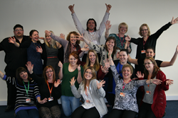 Laughter yoga at Moneypenny