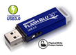New Kanguru FlashBlu30™ USB 3.0 With Physical Write Protect Switch...