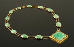 Edward G. Robinson's Mauboussin 18K Gold and Jadeite Necklace