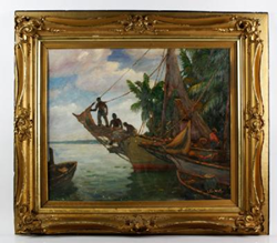 "Anthony Thieme, ""Nassau Boats,"" O/B"
