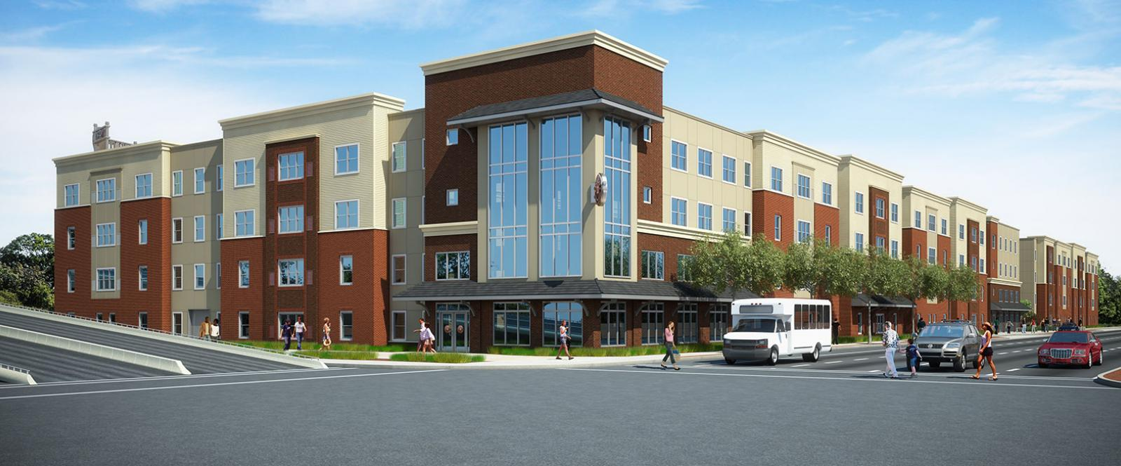 Construction On Schedule And Apartments Leasing Fast At The Depot In Akron