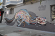 Haight Ashbury, San Francisco, Nychos, mural, graffiti, street art, wolf, anatomy, nychos, rabbit eye movement