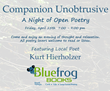 "Blue Frog Books Celebrates Poetry Month With ""Companion Unobtrusive - A Night of Open Poetry"" — Local Poet, Kurt Hierholzer of Howell, MI, Will Start the Event Off"