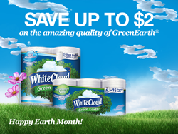 White Cloud® GreenEarth® available at Walmart.