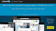 "Webinar Announcement: ""Maximize Your LinkedIn Company Page in 30..."