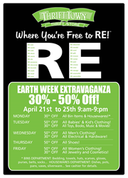 Thrift Town's Earth Week Sale