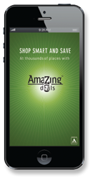 The popular AmaZing Deals mobile coupon app