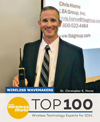 LBA's CTO, Chris Horne named Top 100 Wireless Technology Experts of 2014