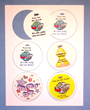 Diecut Sheet of Motavation Button Tags