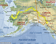 Map of Yukon Kayaking Trip