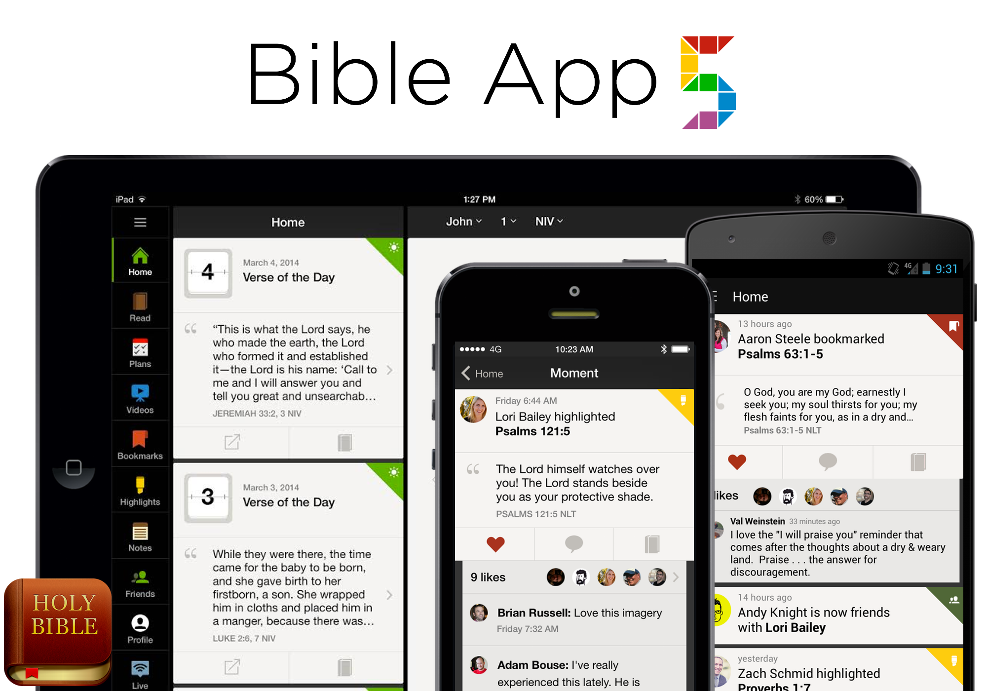 how to create a bible app