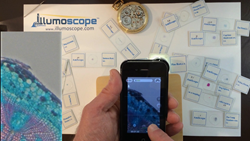 The illumoscope iPhone Case with Microscope Adapter in Use