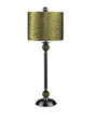 Dimond Lighting METAL BUFFET LAMP WITH PLEATED SHADE - GREEN 111-1115