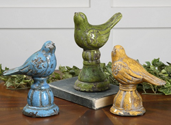 Uttermost Bird Trio Ceramic Figurines 19705