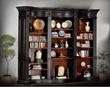 AFD I-JM-HWC004-BK Buckingham Library Bookcase-BK