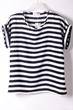 oasap top, fashion top, striped top, chiffon top