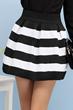 oasap skirt, fashion skirt, striped skirt, high waist skirt
