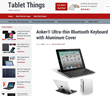 Aluminum cover for iPad tablets