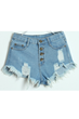 oasap shorts, fashion shorts, denim shorts