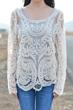 oasap blouse, fashion blouse, crocheted blouse, floral blouse, mesh blouse