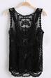 fashion vest, oasap vest, sleeveless vest, round neck vest, lace vest