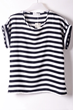 oasap top, fashion top, striped top, chiffon top