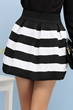 oasap skirt, fashion skirt, striped skirt, high waist skirt