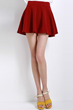 oasap skirt, fashion skirt, mini skirt, pure color skirt