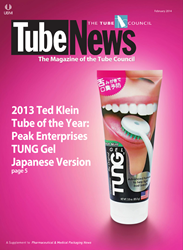 The Award-winning Design for The Original TUNG Gel was recently featured on the cover of Tube News Magazine