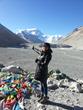 This photo shows that Khangsam, a Tibetan tour guide, was at EBC on April 7, 2014.