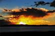 Beautiful sunrise at Lake Namtso.