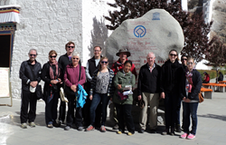 Foreign tourists in Lhasa