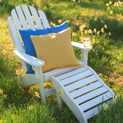 The White Adirondack Lifetime Essentials Chair by Designed for Outdoors