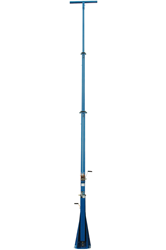 20 foot telescoping light mast with 360° rotating capabilities