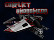 The main menu of Conflict Andromeda