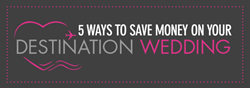 ways to save money on a destination wedding infographic